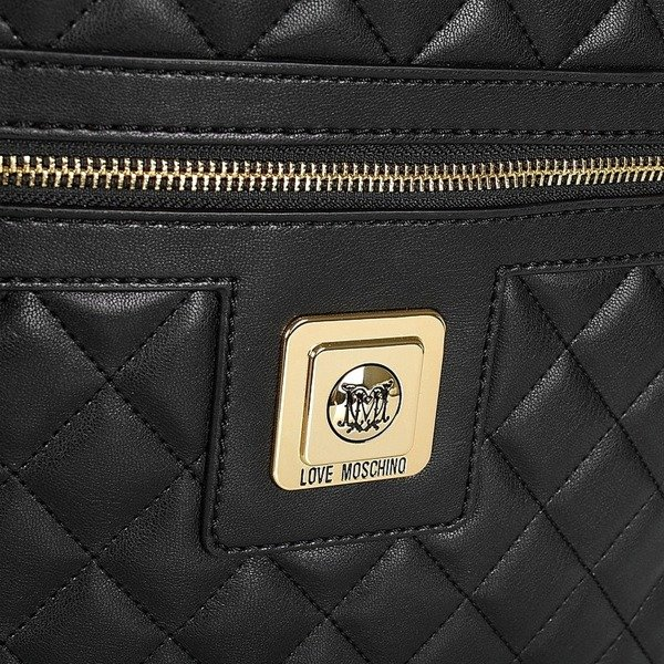 love moschino damen women rucksack backpack tasche schwarz black. Black Bedroom Furniture Sets. Home Design Ideas