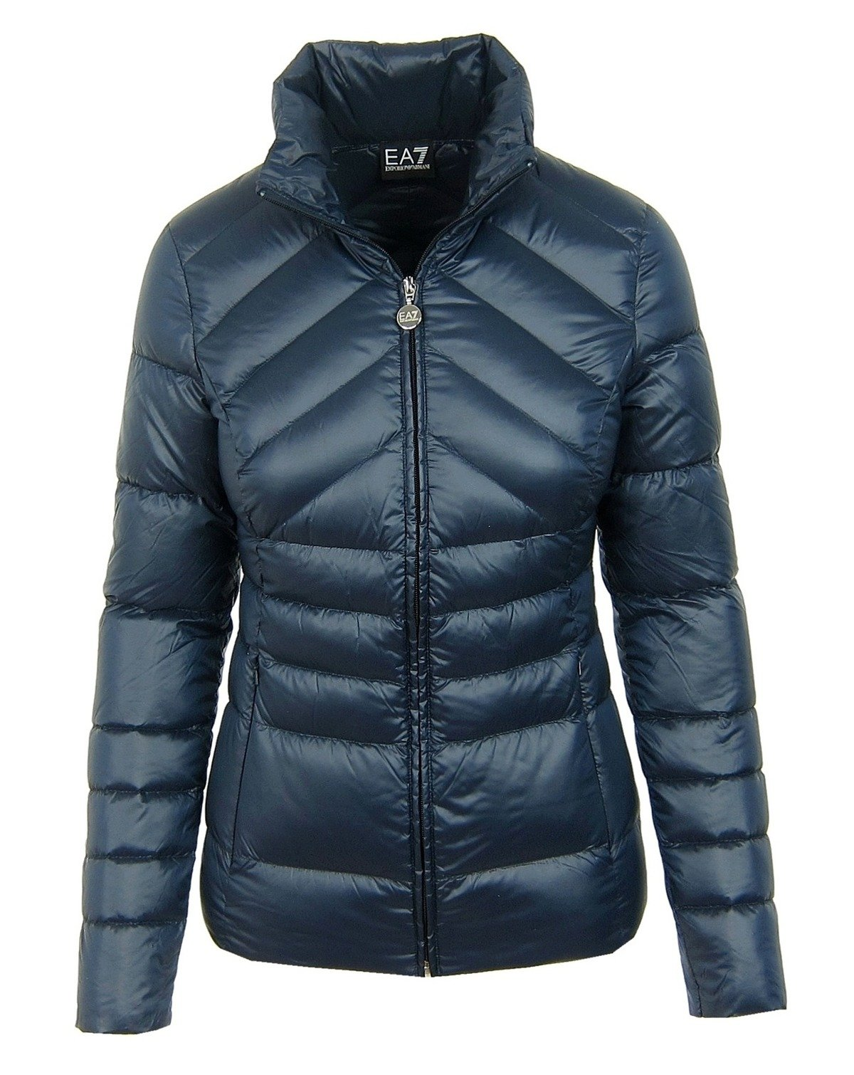 emporio armani ea7 5p245 damen women daunenjacke down jacket dunkelblau navy ebay. Black Bedroom Furniture Sets. Home Design Ideas